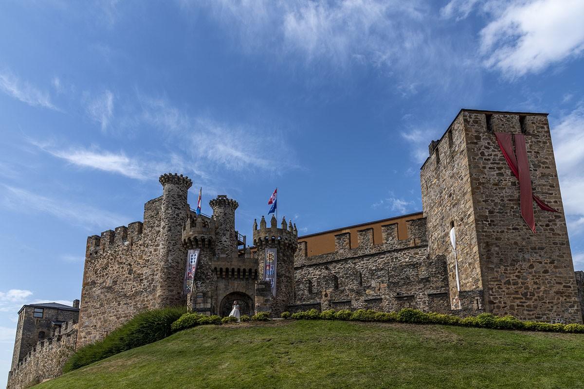 fotógrafo comunión Ponferrada castillo templarios vista general